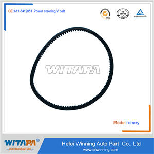 Power steering V belt   A11-3412051   Chery situation